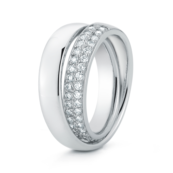 Continuum Inside Diamond Pave Wedding Band by Diana Vincent