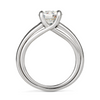 Entre Nous Solitaire Engagement Ring with Diamond Shank Side View