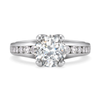 Entre Nous Solitaire Engagement Ring with Diamond Shank by Diana Vincent