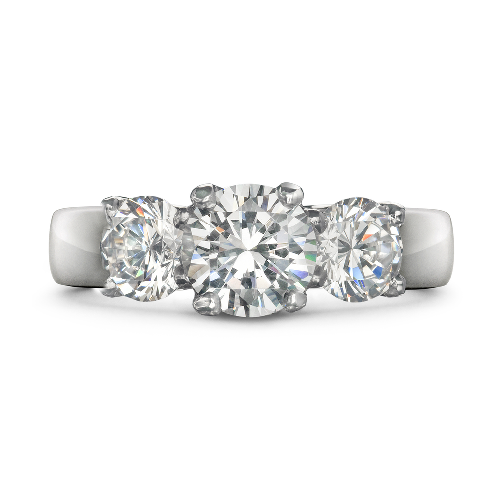 Entre Nous Diamond Three Stone Engagement Ring by Diana Vincent
