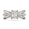 Aura Emerald Cut Engagement Ring with Single Row Diamond Shank by Diana Vincent