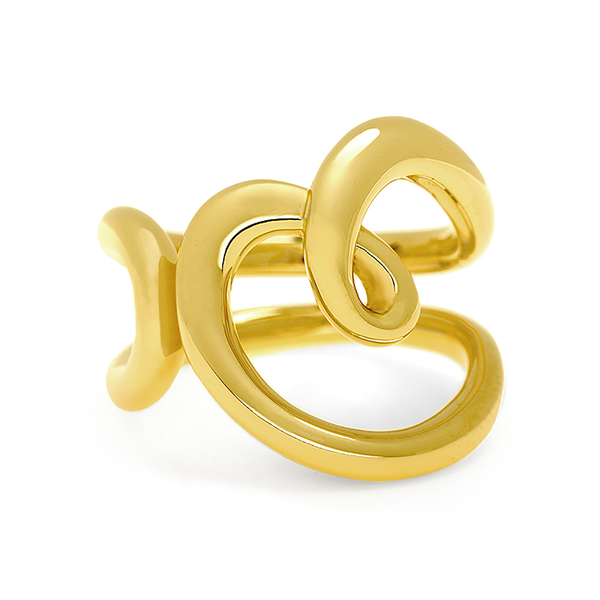 Heart Love Design Ring in Yellow Gold by Diana Vincent