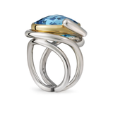 Twizzle Blue Topaz and Sterling Silver Twisting Bands Ring by Diana Vincent