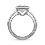 Entre Nous Princess Cut Engagement Ring Side View