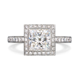 Entre Nous Princess Cut Engagement Ring by Diana Vincent