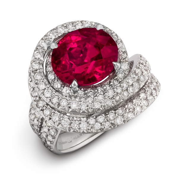 Diana Vincent Burma Ruby Diamond Ring
