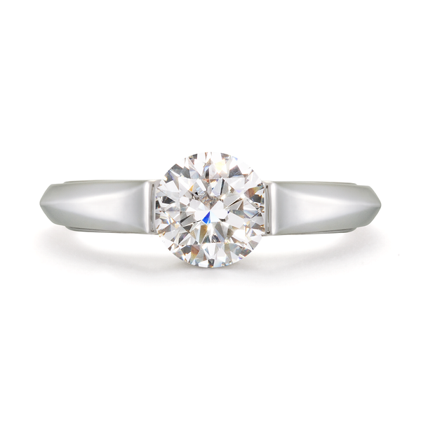 Interesting Setting Omega Solitaire Diamond Engagement Ring by Diana Vincent