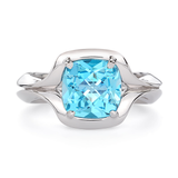 Duet Blue Topaz and White Gold Ring by Diana Vincent