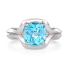 Duet Blue Topaz and White Gold Ring