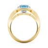 Duet Blue Topaz and Yellow Gold Ring