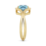 Two Band Blue Topaz and Yellow Gold Ring