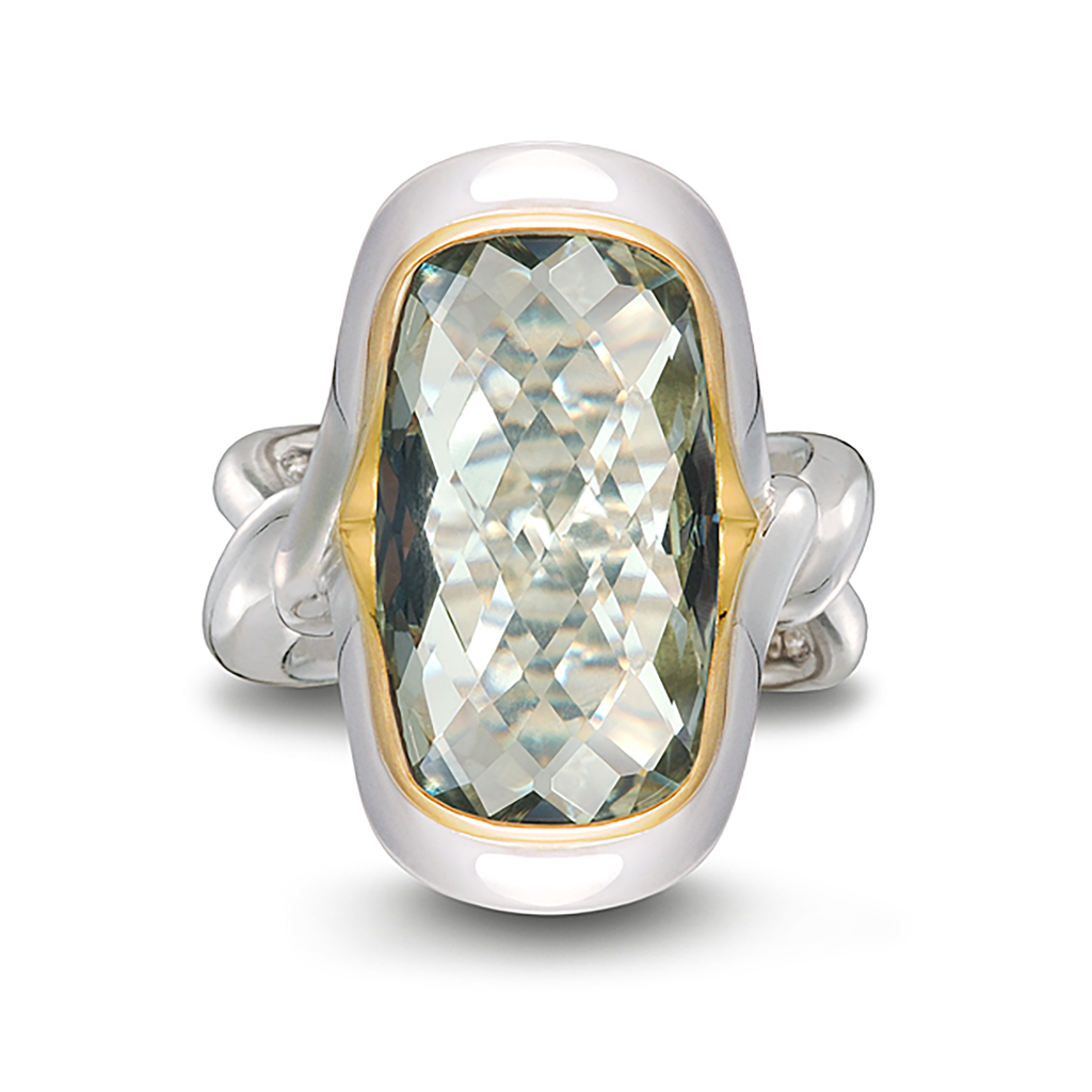 Twizzle Praziolite Gemstone and Sterling Silver Ring by Diana Vincent