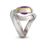 Designer Twizzle Amethyst and Sterling Silver Wrap Ring by Diana Vincent