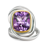 Twizzle Amethyst Gemstone and Sterling Silver Wrap Ring by Diana Vincent
