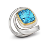 Twizzle Blue Topaz and Sterling Silver Swirl and Wrap Ring by Diana Vincent