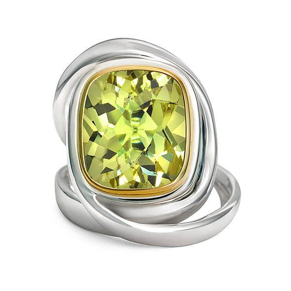 Twizzle Lemon Quartz Gemstone and Sterling Silver Wrap Ring by Diana Vincent