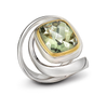 Twizzle Large Praziolite Gemstone and Sterling Silver Swirling Wrap Ring