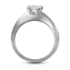 Diamond Solitaire Engagement Ring Side View