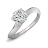 Diamond Solitaire Engagement Ring Quarter View