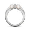 Diana Vincent Girl Interrupted Pearl Ring White Gold and Diamonds