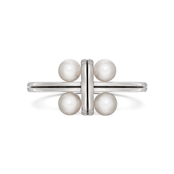 Diana Vincent Girl Interrupted Pearl Ring in White Gold