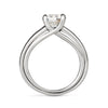 Entre Nous Solitaire Diamond Platinum Engagement Ring Side View