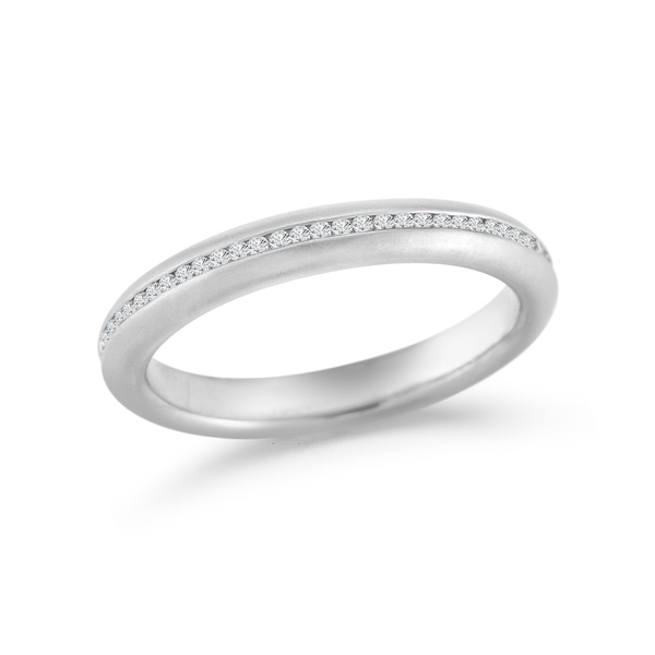 Comfortable Modern Steller Zero Cool Diamond Eternity Wedding Band by Diana Vincent