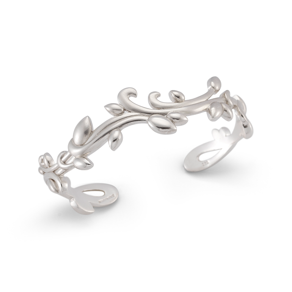 Leaf Nature Inspired Sterling Silver Cuff Bracelet by Diana Vincent