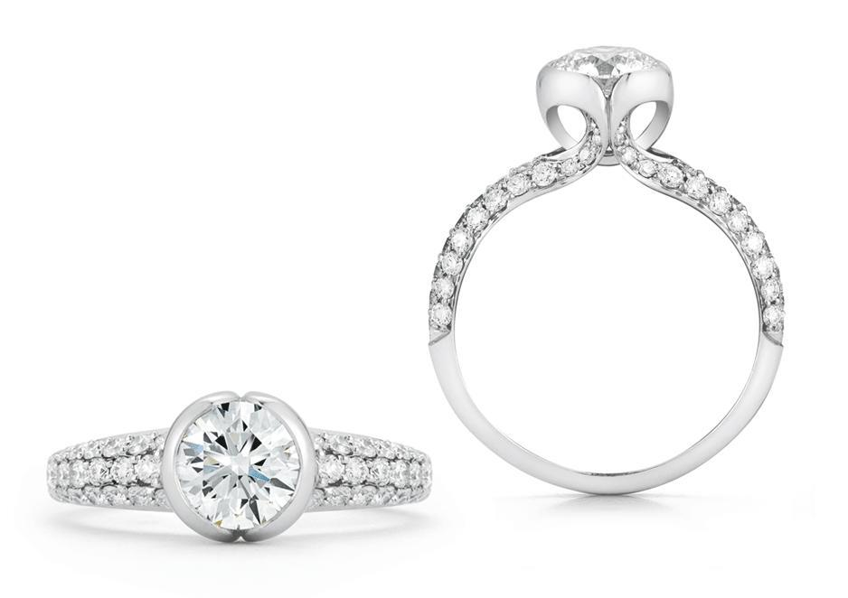 DIAMOND & ALTERNATIVE<BR>ENGAGEMENT RINGS