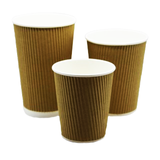 Premium Kraft Ripple Wall Hot Vending Cup