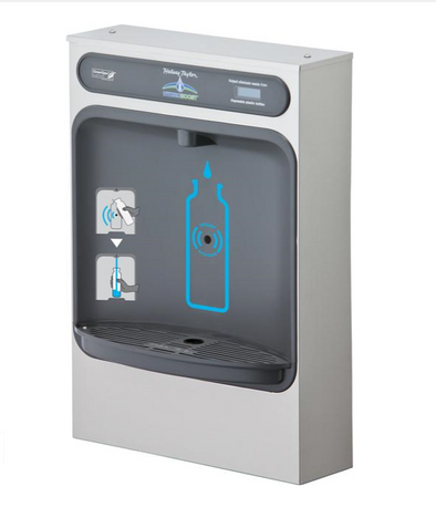 Halsey Taylor Hydro Boost Bottle Filling Station Filtered Surface Mount -None Chilled