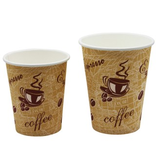 Single Wall Red Bean Hot Vending Cup