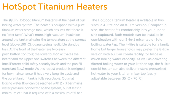 HotSpot Titanium Adrianna 3-in-1 Hot and Cold Tap -  Chrome (WEEKLY RENTAL OR PURCHASE)
