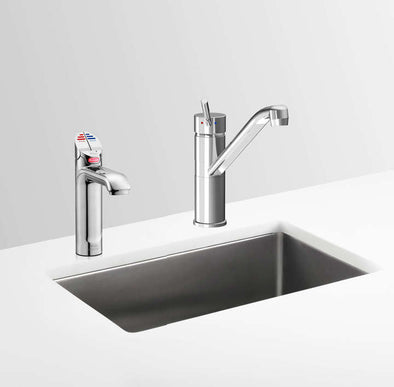 Zip Hydrotap G4 5 in 1 with Classic Mixer Tap Instant Boiling, Chilled & Sparkling Commercial Surface Mounted Drinking Water Tap
