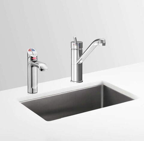Zip Hydrotap G4 4 in 1 with Classic Mixer Tap Instant Boiling & Chilled Commercial Surface Mounted Drinking Water Tap