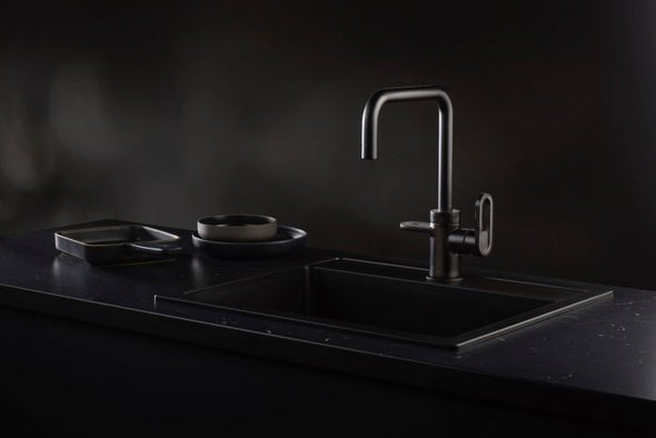 HotSpot Titanium Adrianna 3-in-1 Hot and Cold Tap - Matte Black (WEEKLY RENTAL OR PURCHASE)