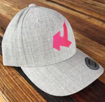 Kaio Heather Grey Curved Snapback