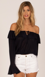 AmuseSociety Bella Babe Shoulder Long-Sleeve