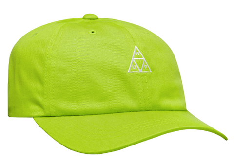 Huf Essentials Triple Triangle Logo CV 6 Panel Lime