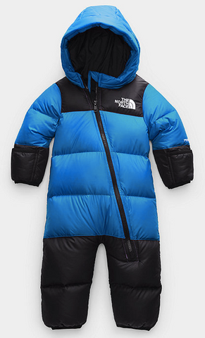 The North Face Infant Nuptse One Peice ClearLake Blue