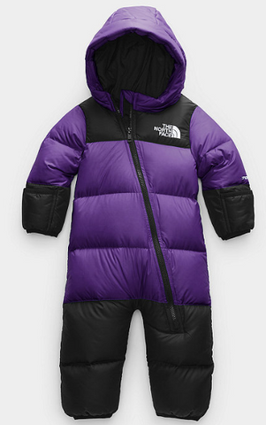 The North Face Infant Nuptse One Peice Peak Purple