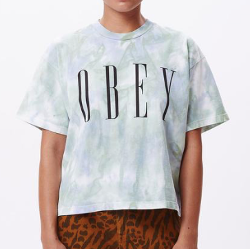 Obey New Custom Crop Tee Tie Dye