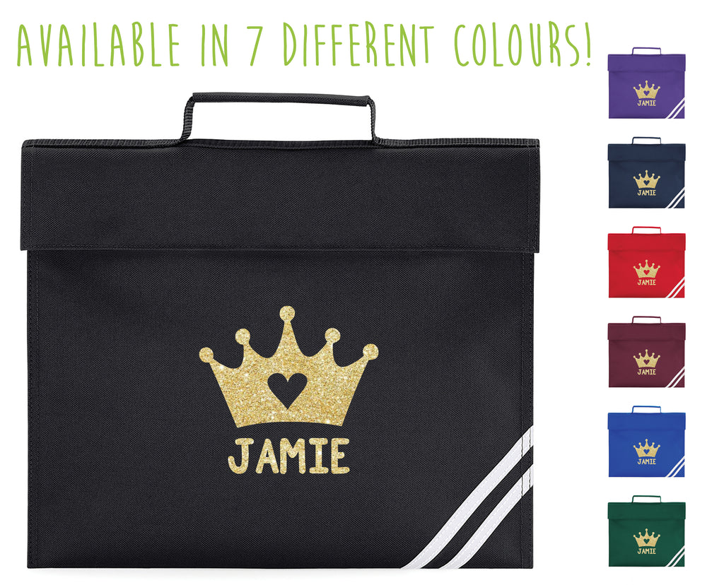 Personalised Crown Book Bag