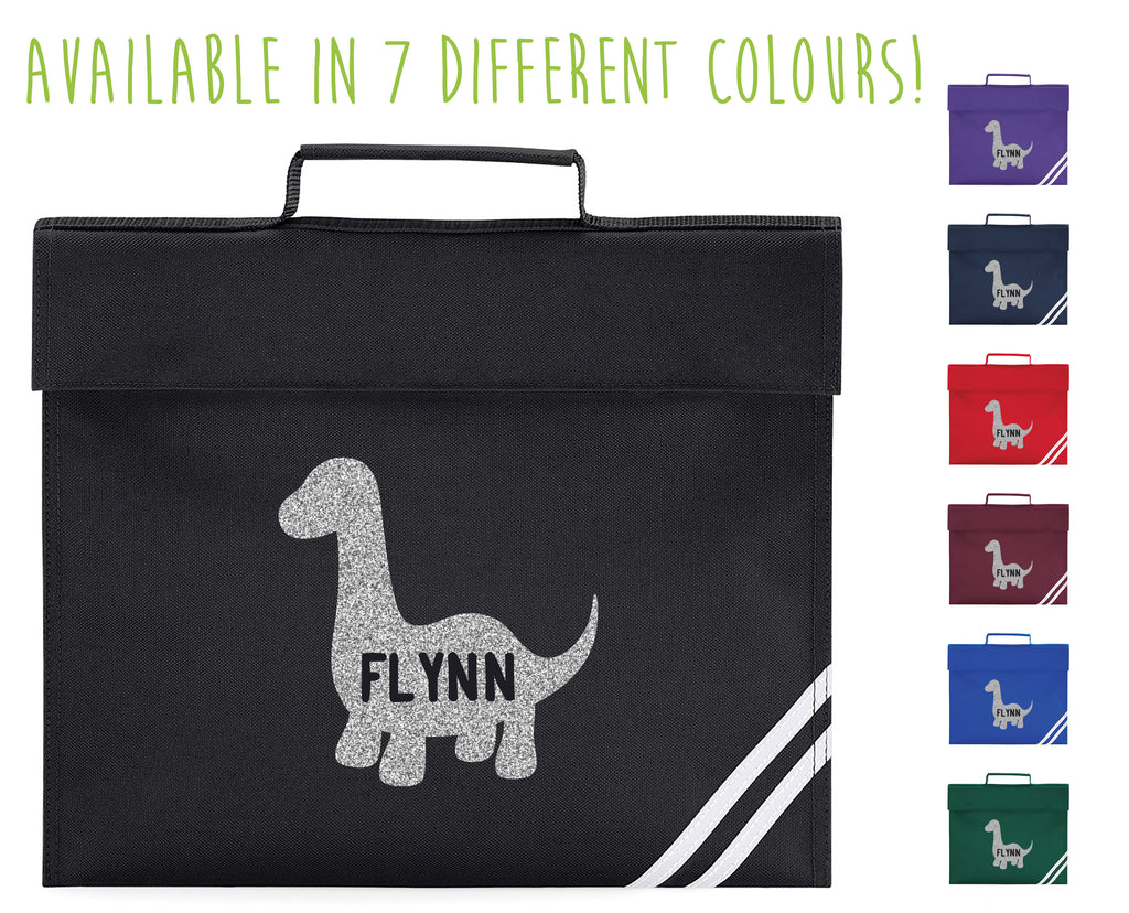 Personalised Dinosaur Book Bag