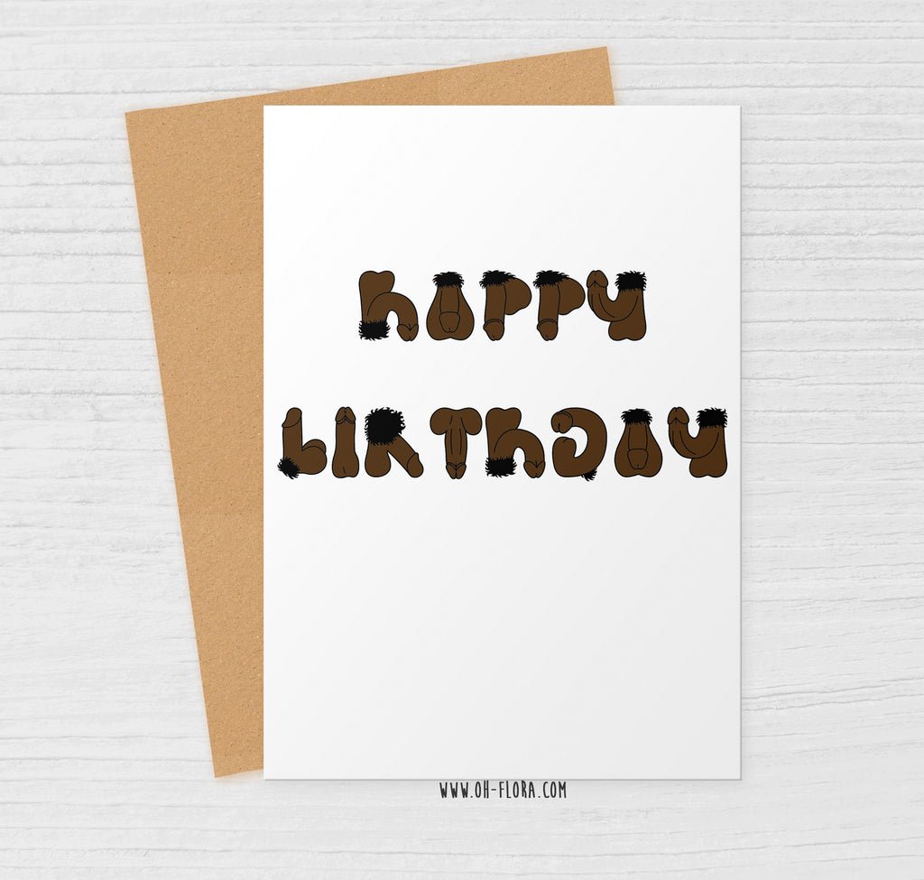 Willy Birthday Card V2