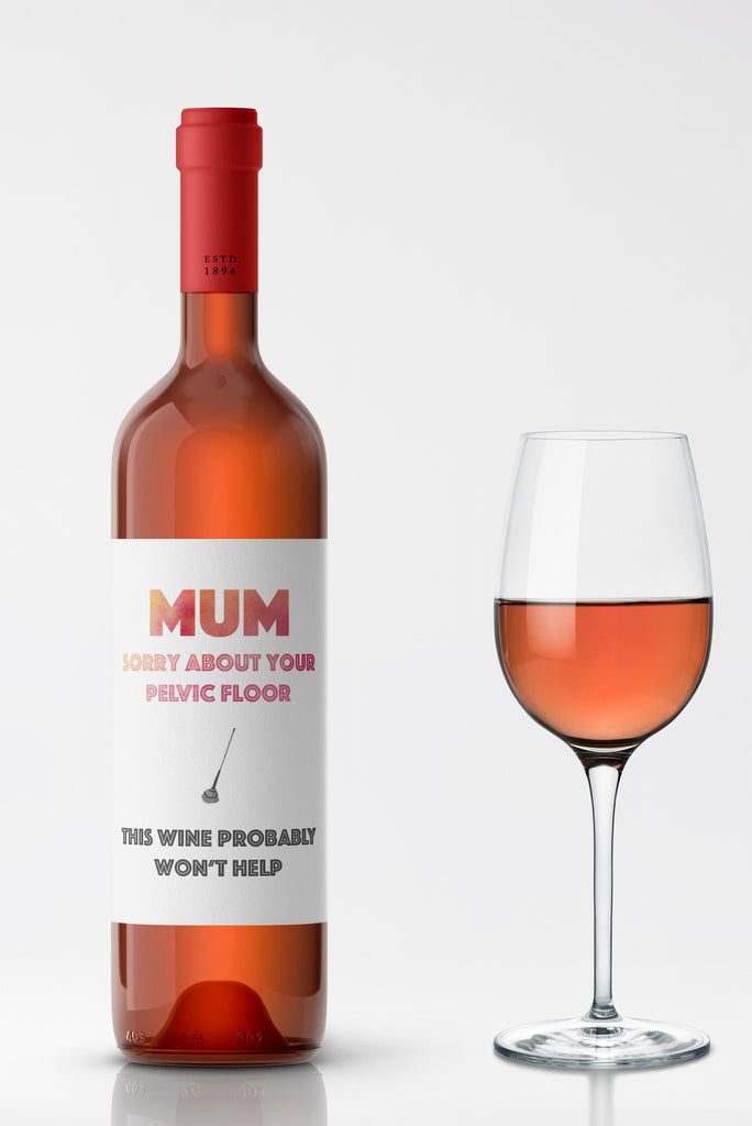 Pelvic Floor Wine Label