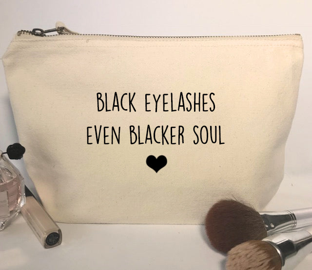 Black Eyelashes Make-Up Bag