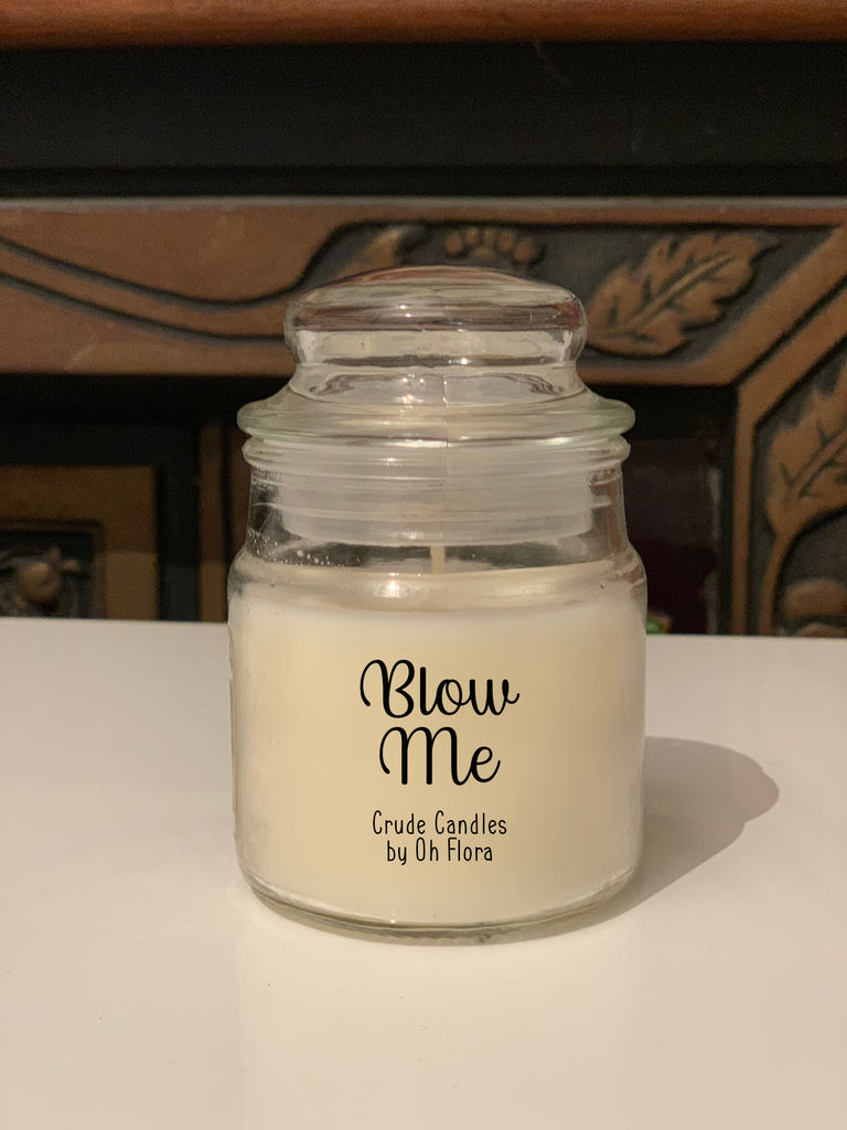 Small Blow Me Jar Candle