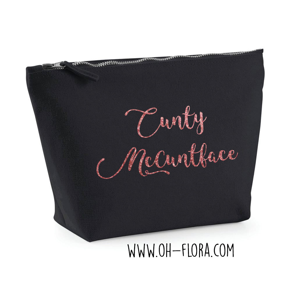 Cunty McCuntface Make-Up Bag (BLACK)
