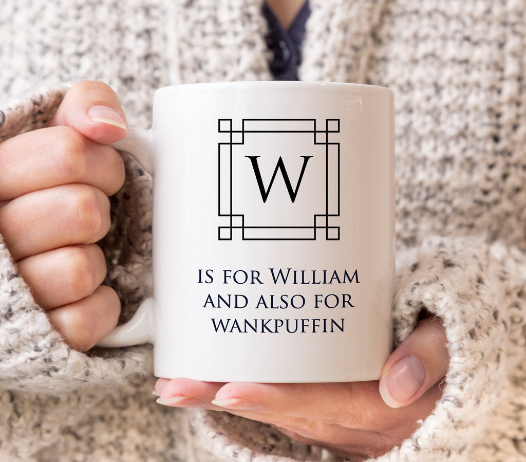 Personalised initial Deco Mug